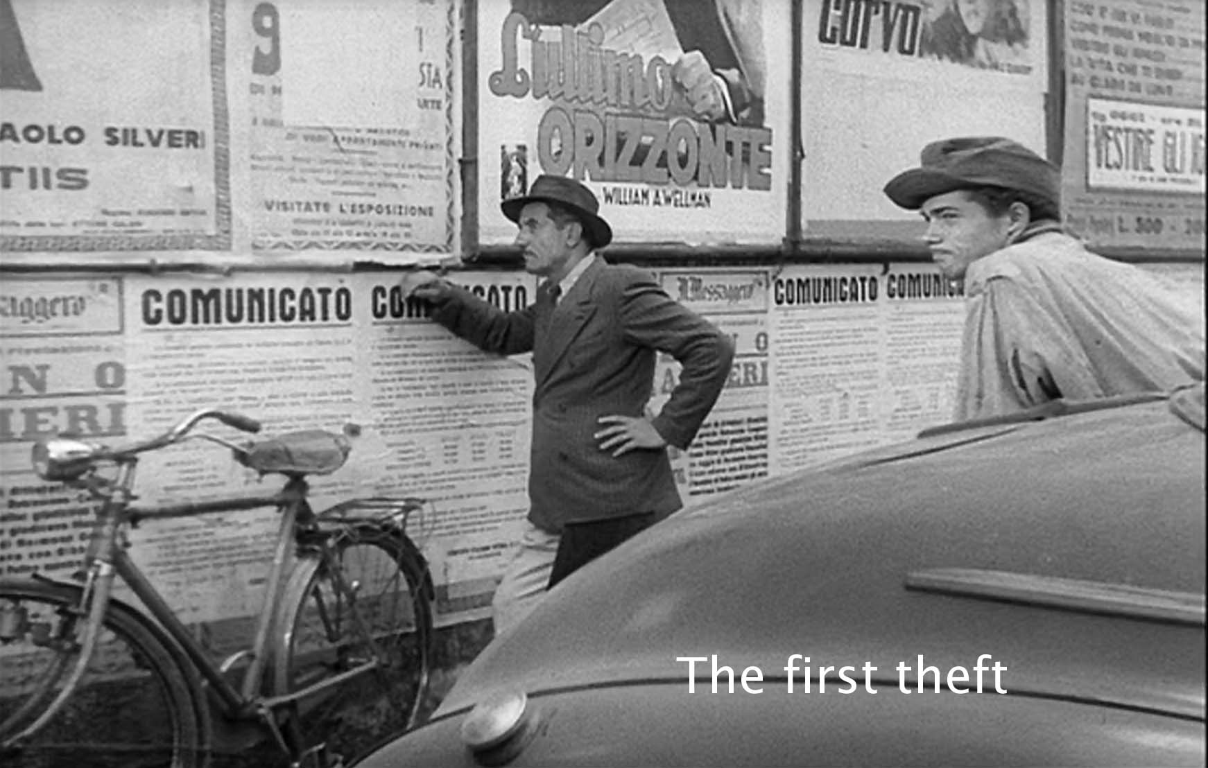 the film the bicycle thief Bicycle thieves – de sica's social drama, along with roberto rossellini's rome,  open city, is the most emotionally engaging film of the italian neo-realist film.