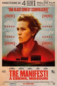 """Locandina del film """"Tre manifesti a Ebbing, Missouri"""""""